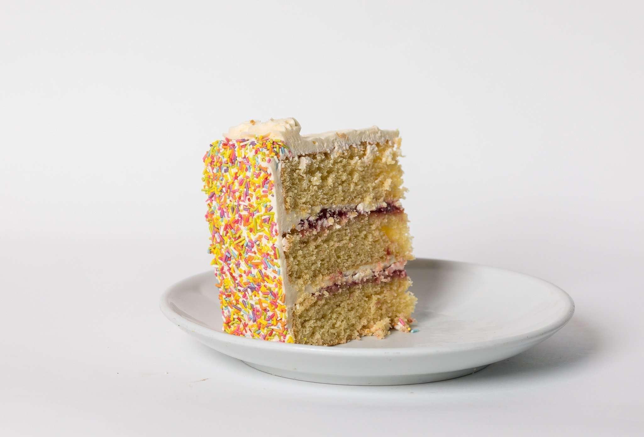 Vanilla Victoria Sprinkles Cake